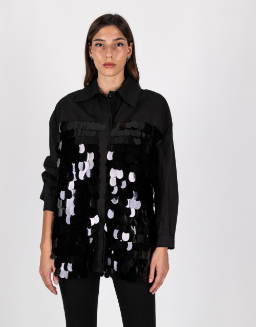 Black paillettes jacket