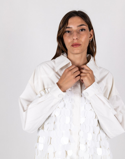 White paillettes jacket