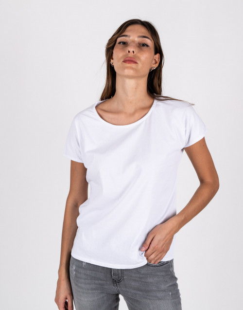 White over t-shirt