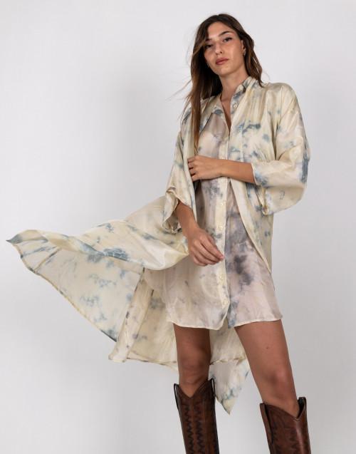 Tie and dye fantasy kimono