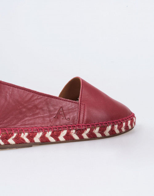 Arven Espadrilles in Red Leather