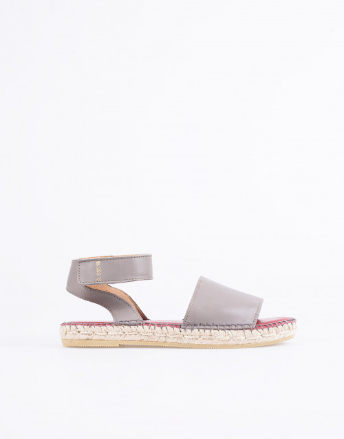 Gray Leather Alvesta Sandal Espadrilles