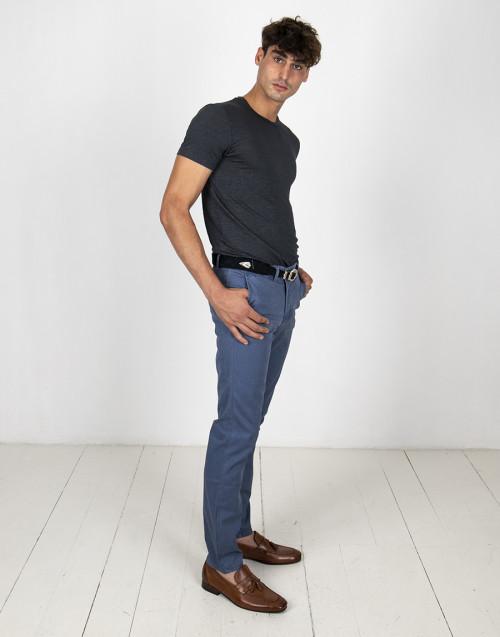 Pantalone chino blu chiaro