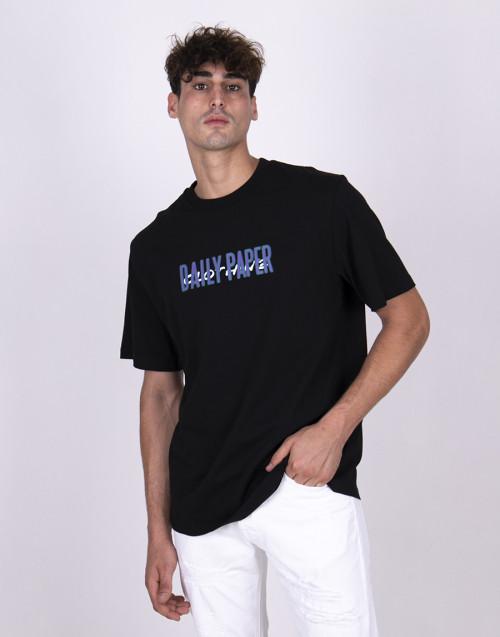 T-shirt nera con stampa logo
