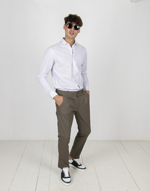 Olive color chino trousers
