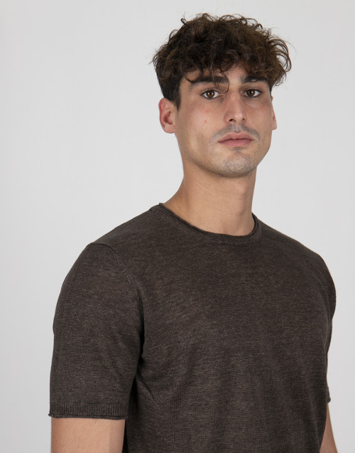 Brown linen t-shirt
