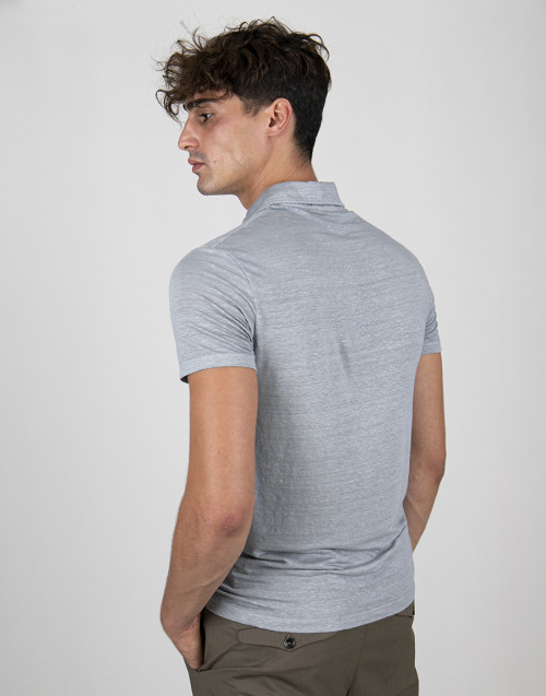 Light gray polo shirt
