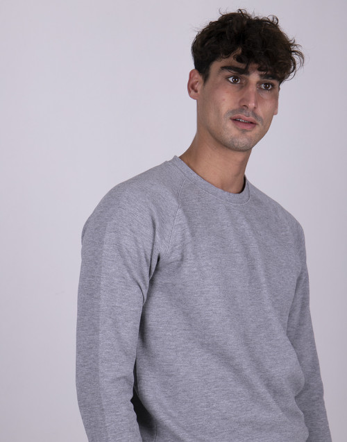 Gray biologic cotton sweatshirt