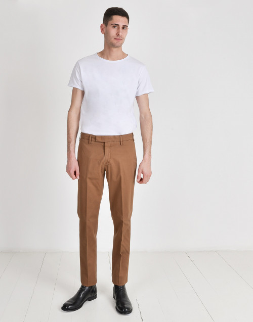 Cotton slim trousers