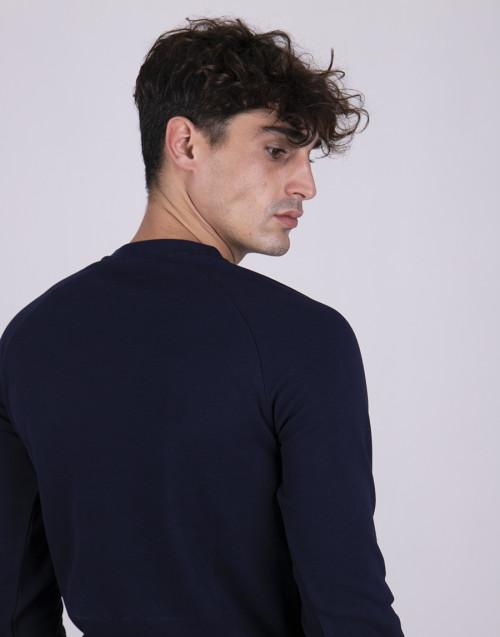 Felpa girocollo blu