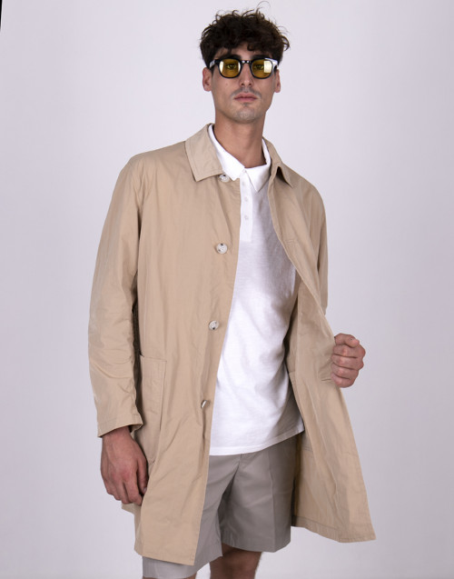 Trench beige in nylon