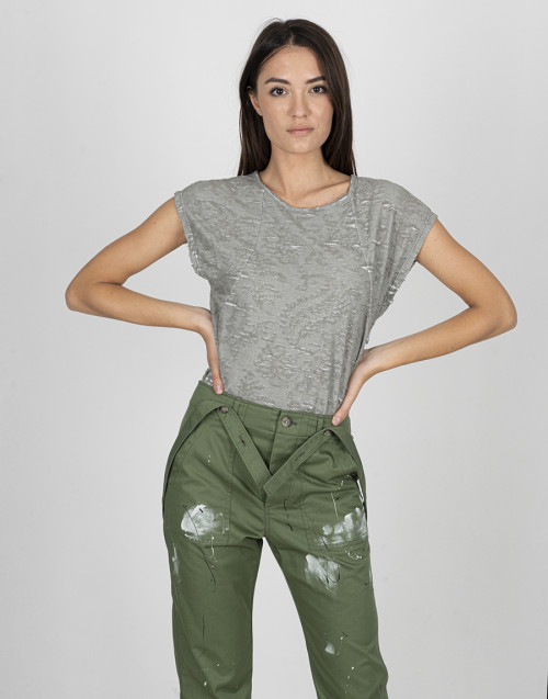 Gray cotton T-shirt