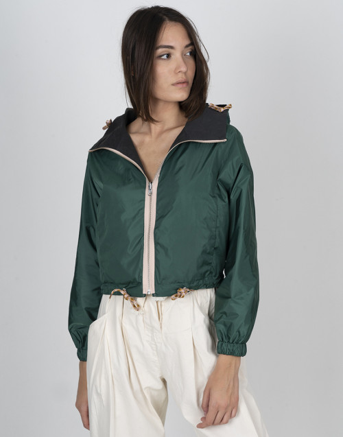 Green double face jacket