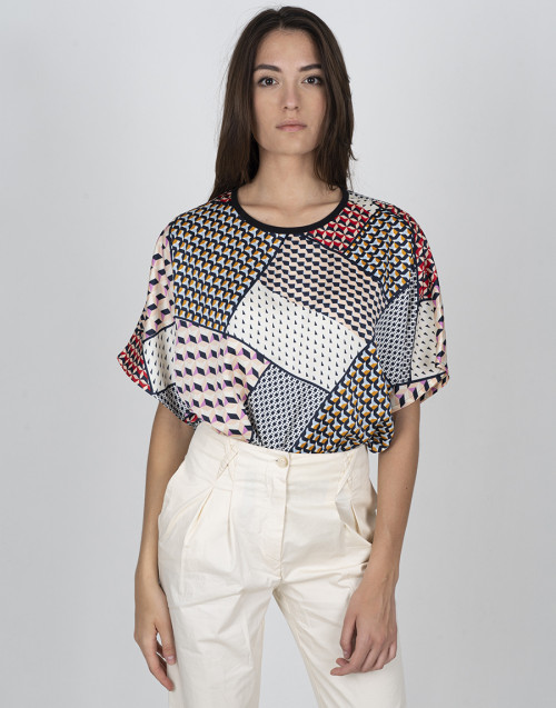 Foulard multicolour shirt