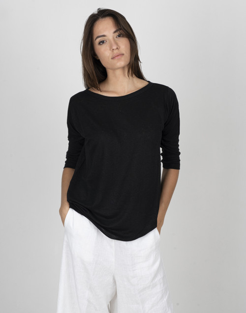Black linen T-Shirt