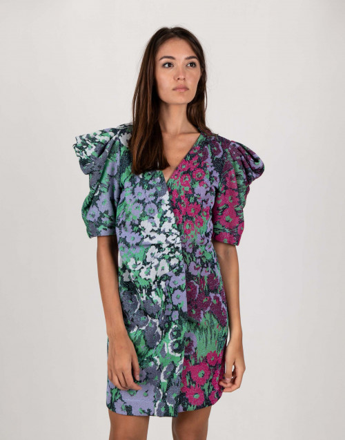 Floral lurex dress