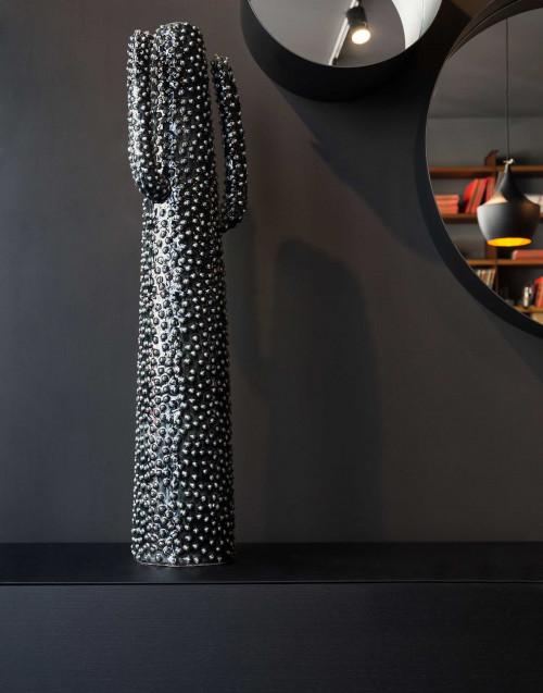 Vaso Porta Fiori Cactus Nero 98cm