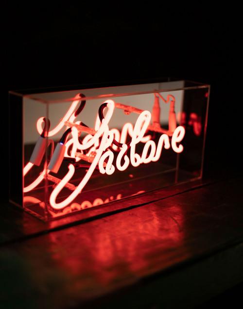 Lampada neon box J'Adore