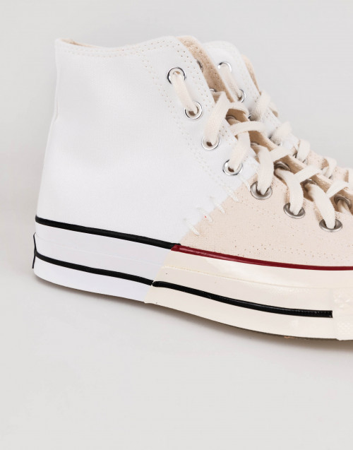 "White and beige Converse chuck Taylor ""cut and sew"""