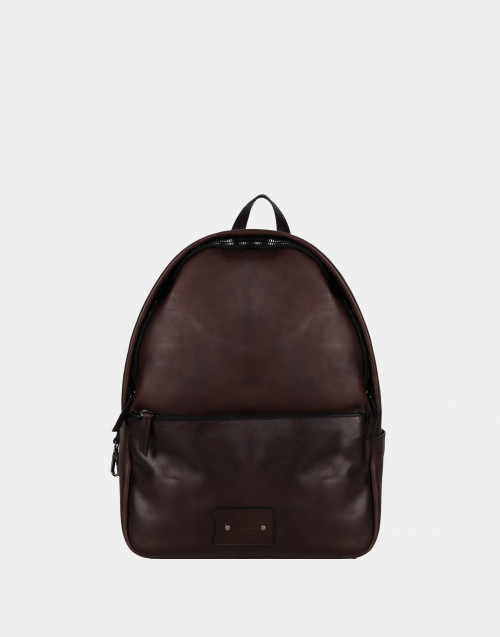 Brown smooth leather backbag