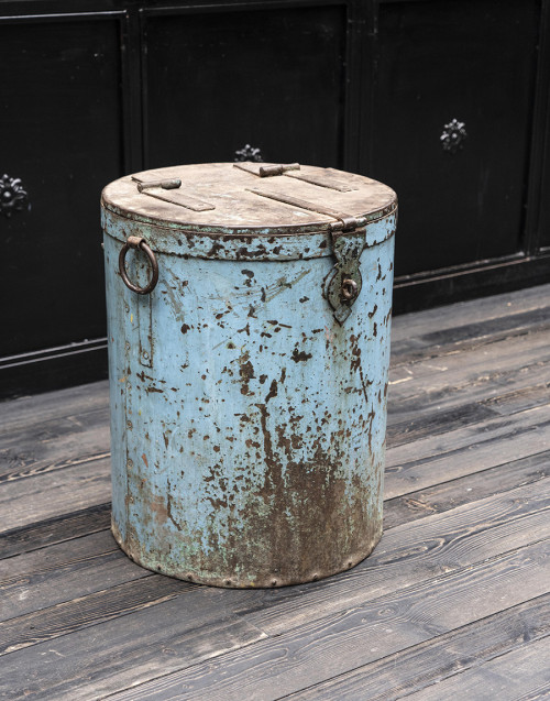 big bin blue iron