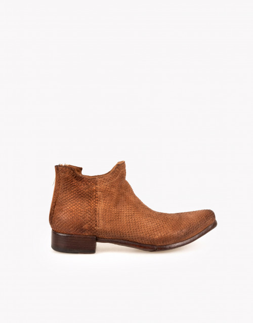 Camperos boot in python camel leather