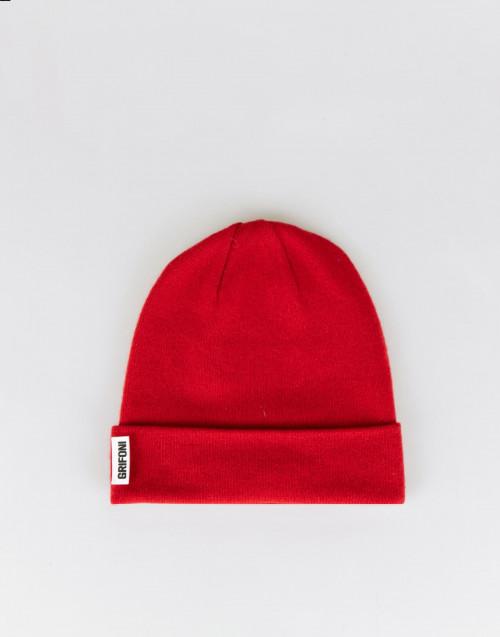 Cuffia rossa in cashmere