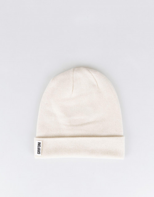 Cream color cashmere beanie
