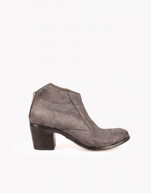 Grey python leather ancle boot