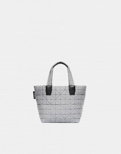 Small grey reflective nylon bag