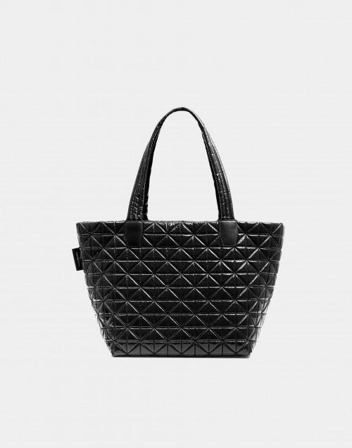 Medium black vinyl nylon bag