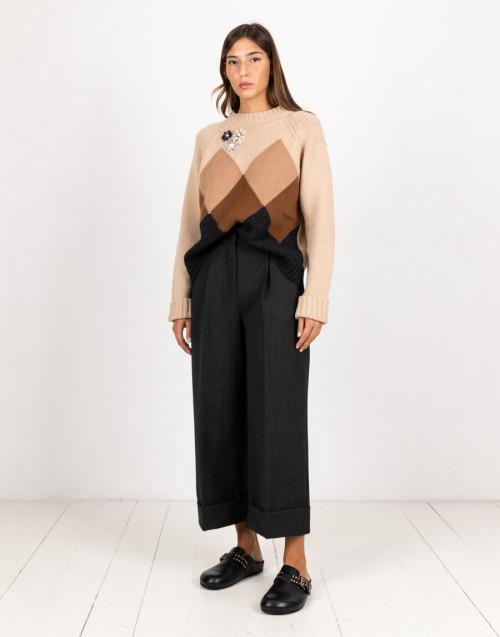 Pantalone over in lana