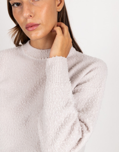 Ice coloured wool sweater