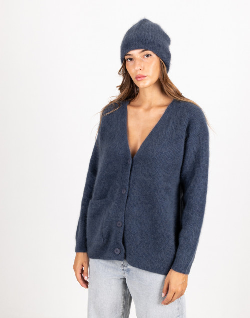 Avio coloured wool cardigan