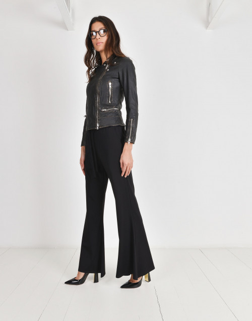 Circle viscose trousers