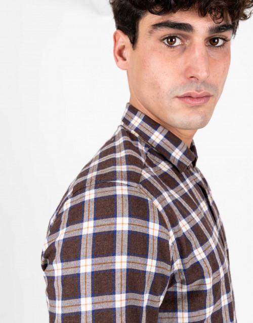 Camicia tartan in cotone