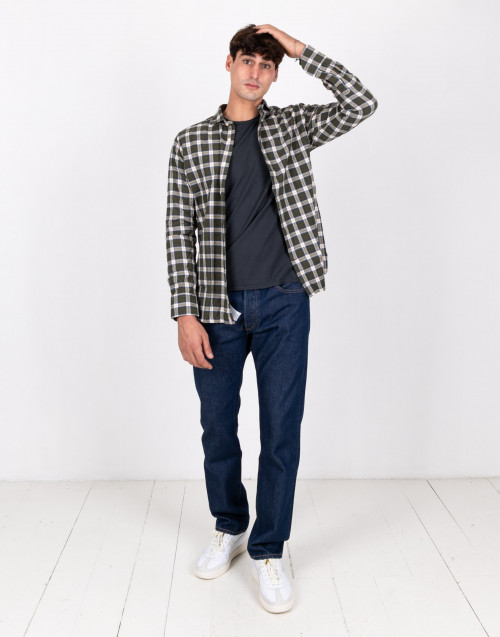 Tartan motive cotton shirt