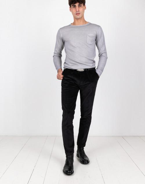 Black corduroy trousers