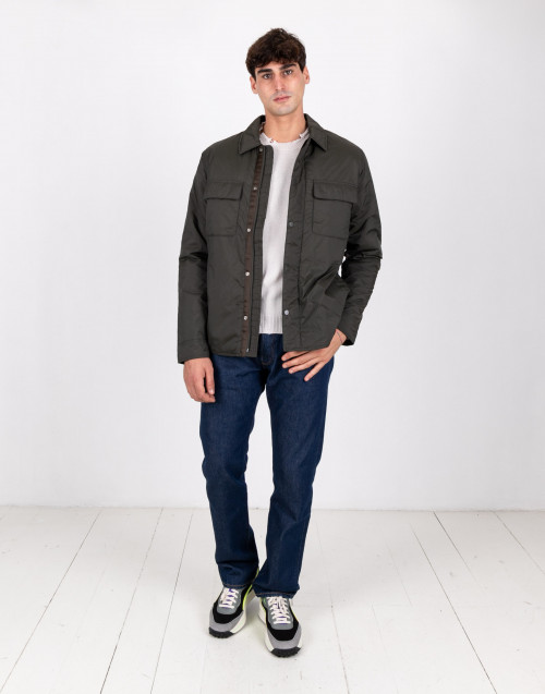 Olive green colured nylon jacket