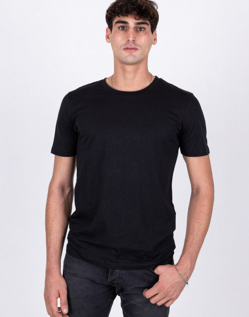 T-shirt basic in cotone nera
