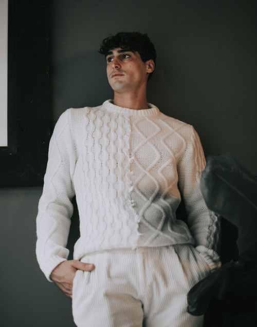Maglia in lana panna