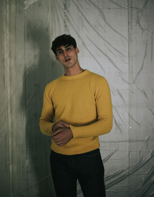 Yellow wool sweater