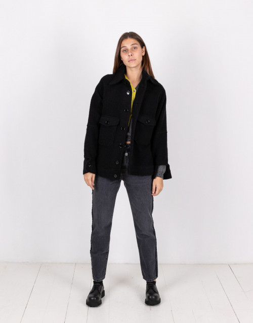 Black oversize wool jacket