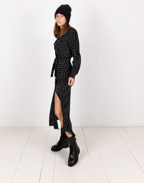 Black viscose chemisier dress