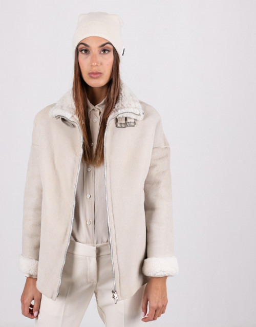 Ivory color shearling