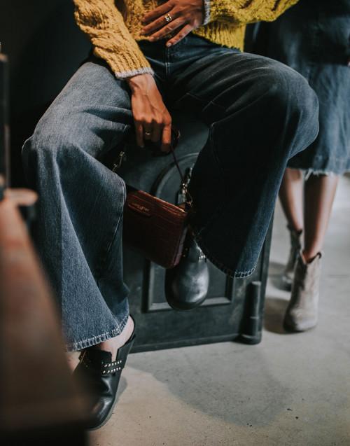 Jeans Nizza a palazzo a vita alta