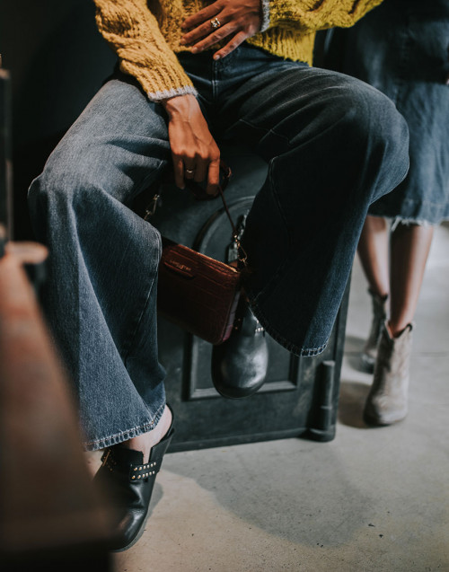 Nizza high-waisted palazzo jeans