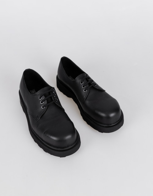 Lace-up derby shoe in black leather Bolt 2572
