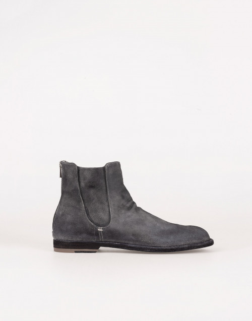 Gray suede Chelsea boot
