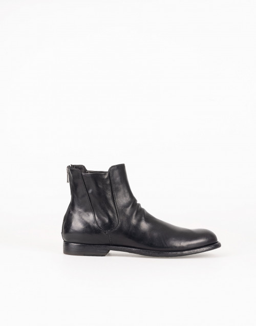 Black patent Chelsea boot